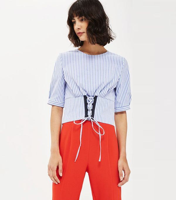 Stripe Corset Top