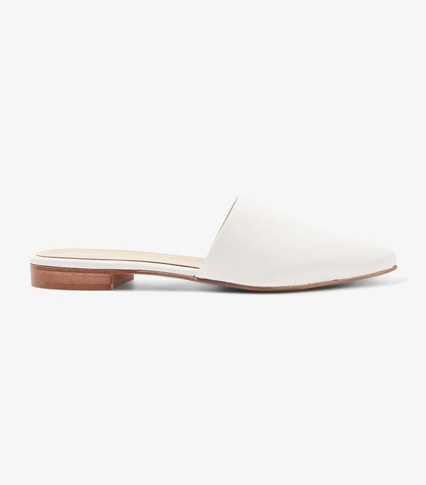 ANGELINA Suede Leather Slip On Mules