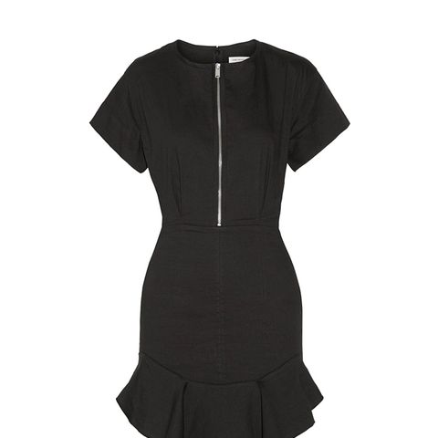 Neit Ruffled Stretch-Twill Mini Dress