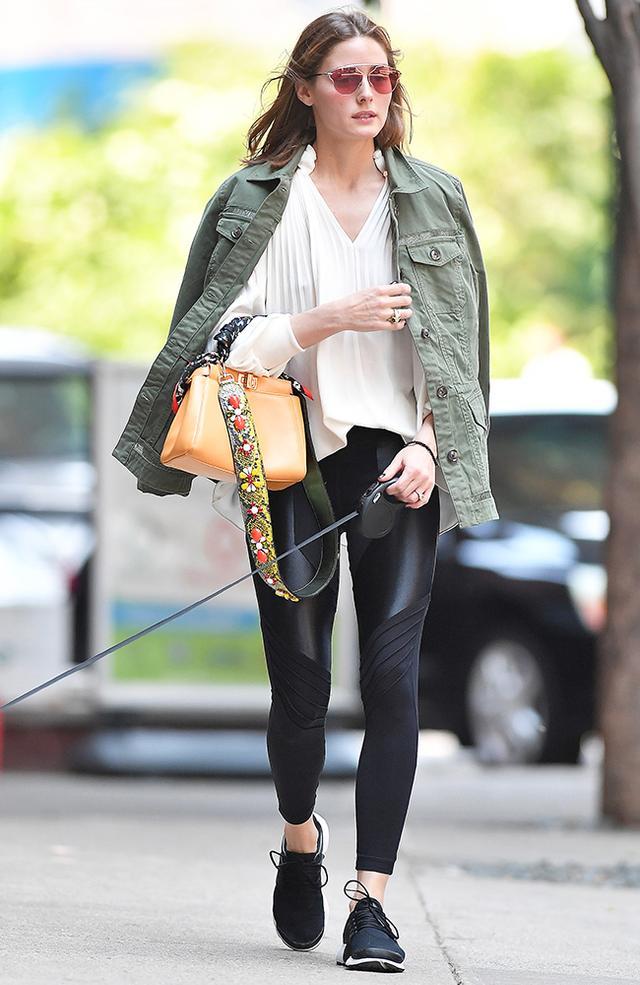 On Olivia Palermo: Dior So Real Pop Sunglasses (£375); Tibi top; Fendi MiniPeekaboo Bag (£1930); Koral ActivewearLustrous High-Rise Leggings(£62); Nike Air...