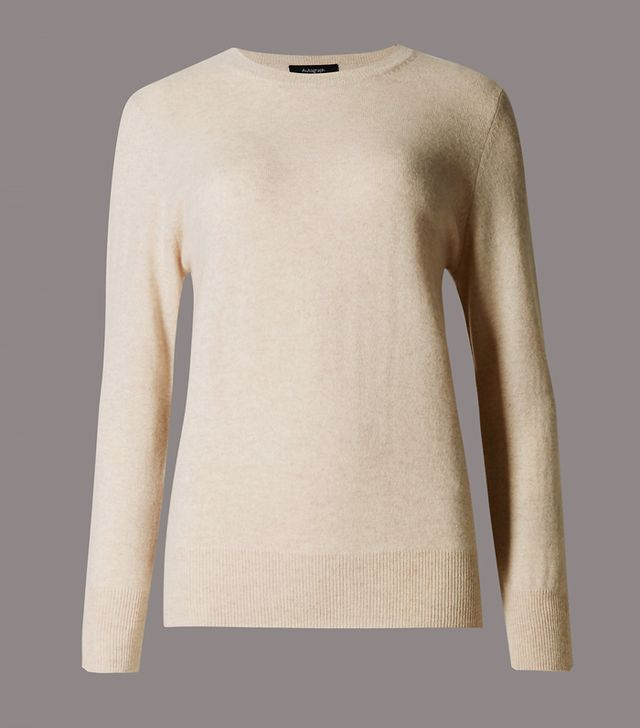 Wardrobe staples: Marks & Spencer Pure Cashmere Ribbed Round Neck Jumper