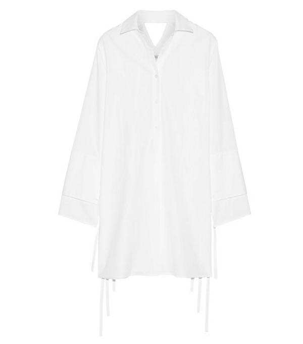 Best shirt dresses: Cutout Cotton-poplin Dress