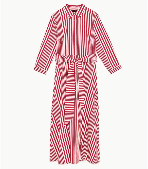 Best Shirt Dresses: Zara striped shirt