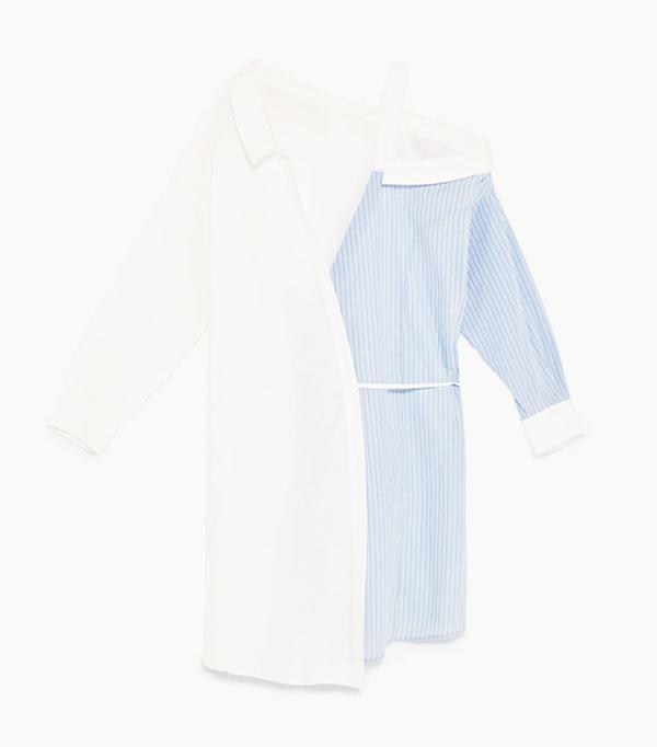 Best shirt dresses: Zara deconstructed dress