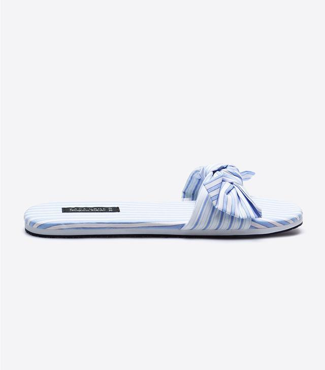 Zara Home Striped Bow Slippers