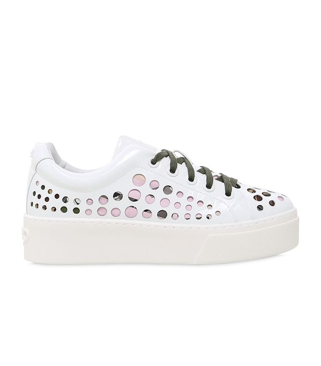K-Lace Patent Leather Platform Sneakers
