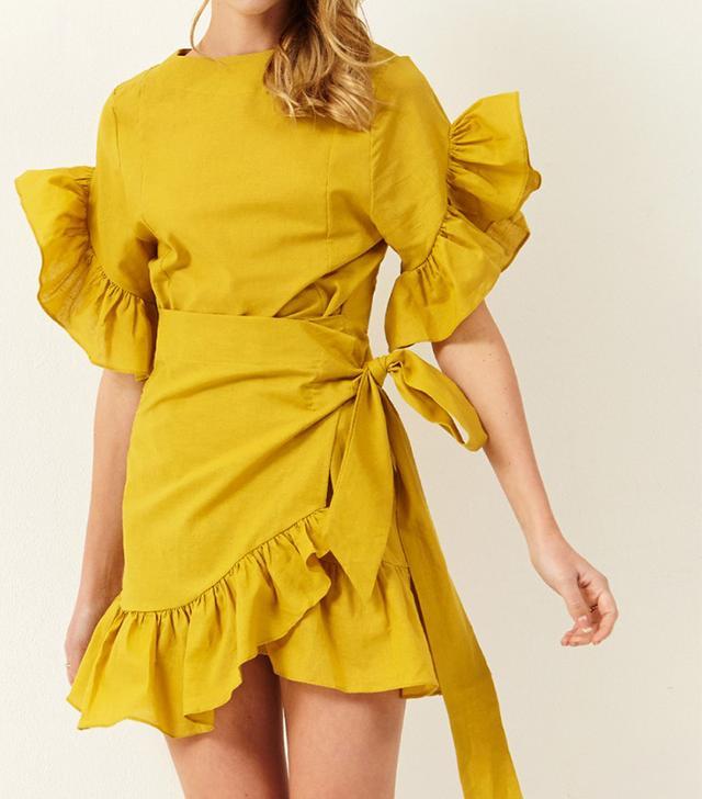Storets Avril Wrap Mini Dress