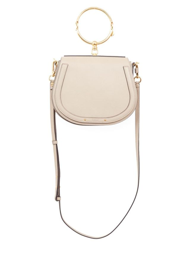Medium Nile Leather & Suede Saddle Bag