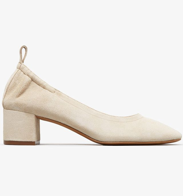 most comfortable heels- everlane the day heel