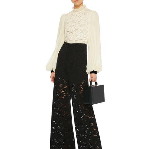High-Rise Lace Pants