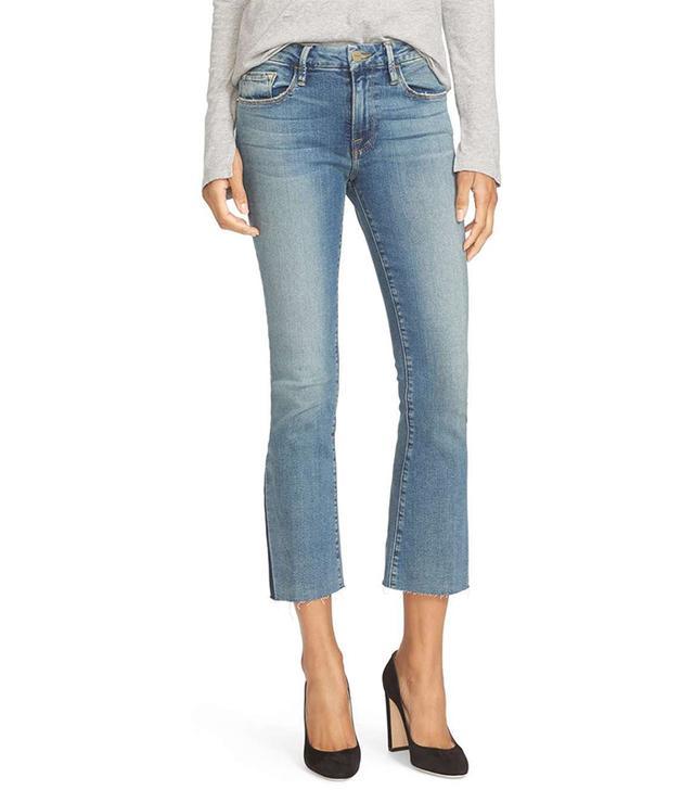 Women's Frame Crop Mini Bootcut Jeans