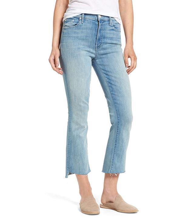 Women's Mother The Insider High Waist Step Hem Crop Bootcut Jeans