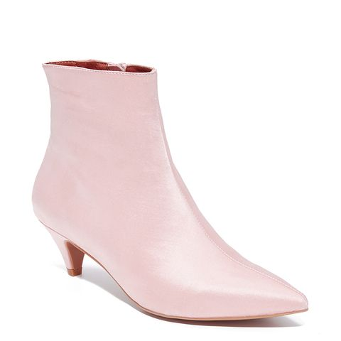 Muse Satin Kitten Heel Booties