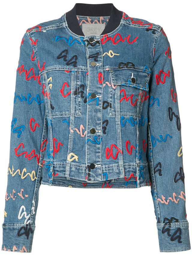 printed denim jacket