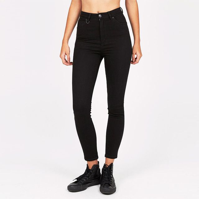 Neuw Marilyn Ankle Jean in Black Silk