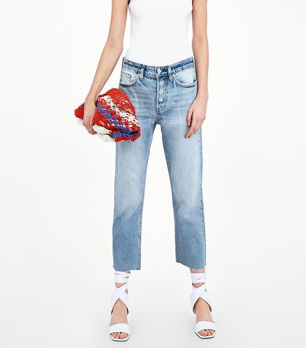 Zara Straight Leg Hi-Rise Jeans