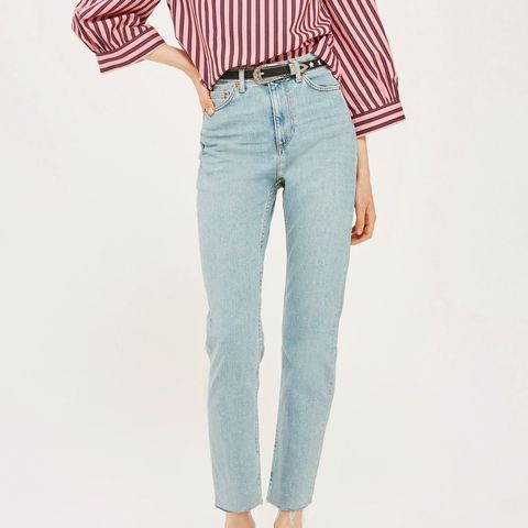 Moto Vintage Bleach Straight Jeans