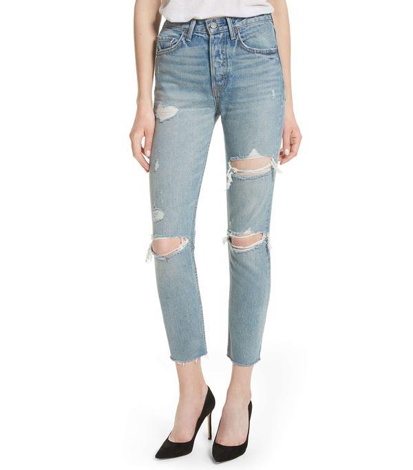 Petite Women's Grlfrnd Karolina Rigid High Waist Skinny Jeans