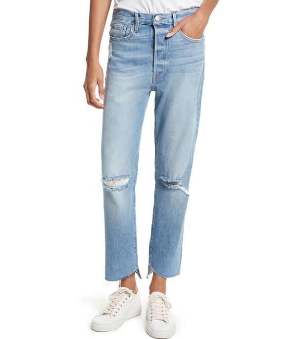 Women's Frame Le Original Step Hem High Waist Jeans