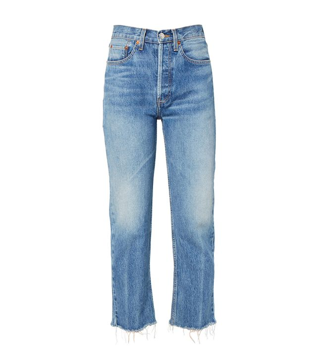 Re/Done Originals Stove Pipe Rigid Jeans