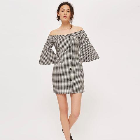 Gingham Blazer Dress