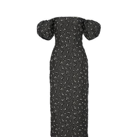 Off-the-Shoulder Jacquard Dress