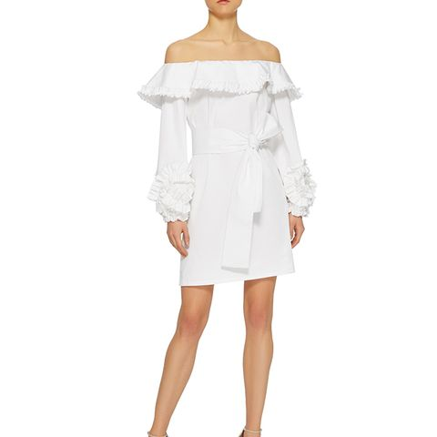 Miquela Off Shoulder Ruffle Dress