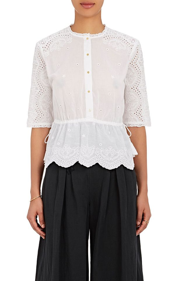 Women's Quincy Cotton Eyelet Top
