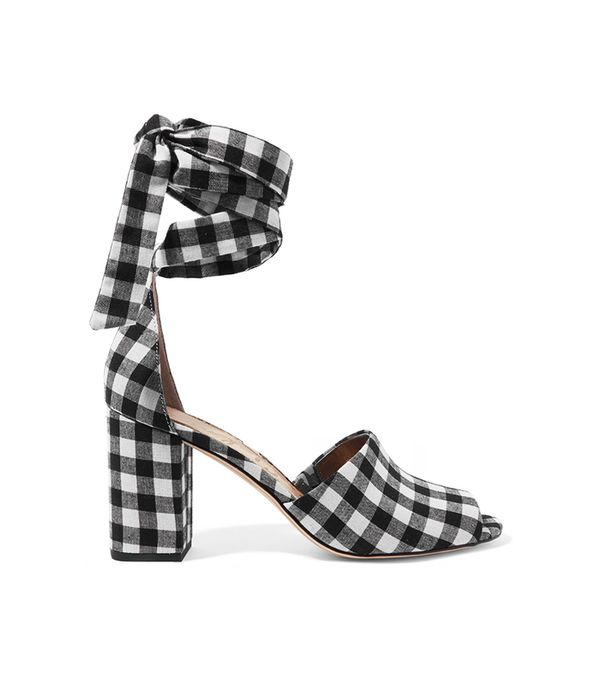 Odele Gingham Canvas Sandals