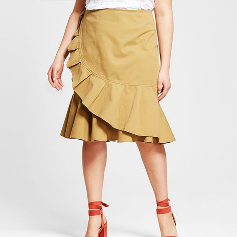 Plus Size Ruffle Wrap Skirt