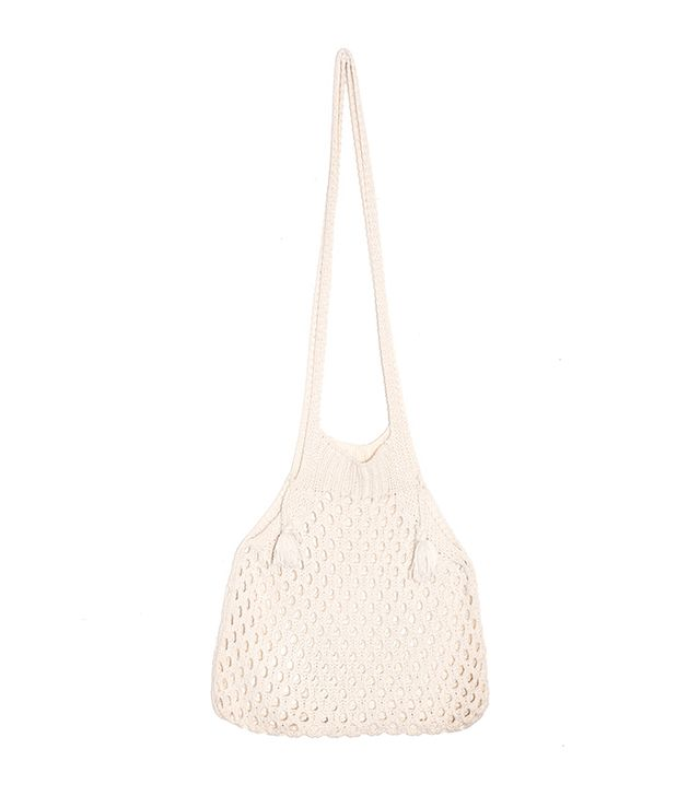 Pixie Market Knit Fisherman Net Shoulder Bag
