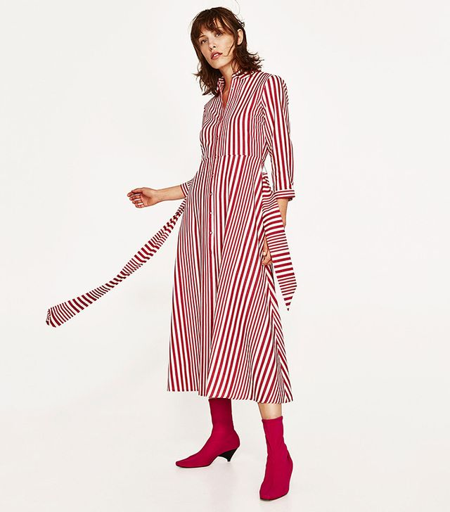 Zara Striped Shirt-Style Tunic