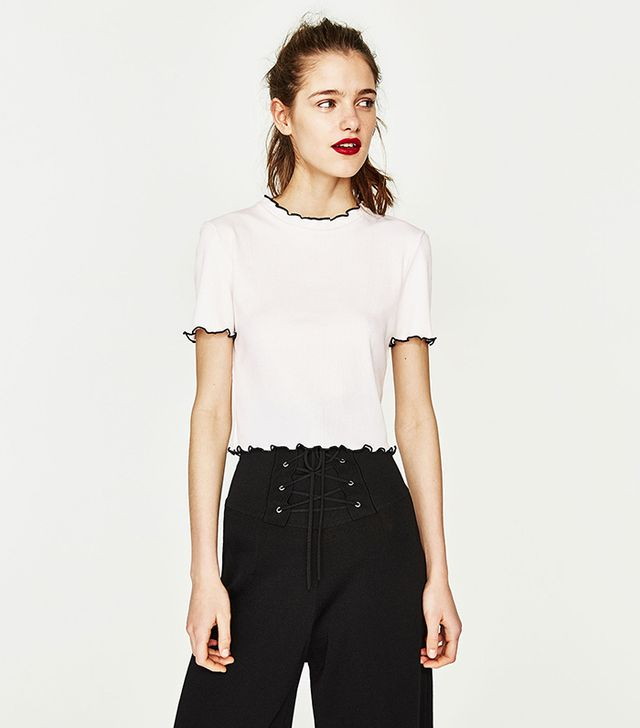 Zara Ribbed Crop Top