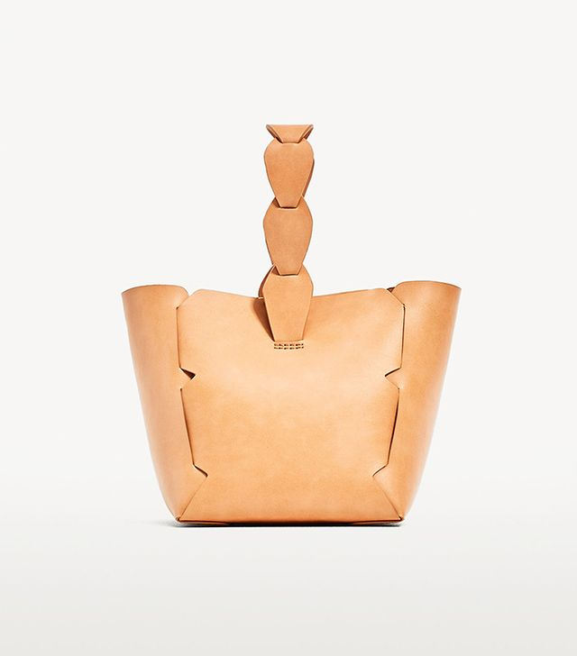 Zara Mini Geometric Bucket Bag