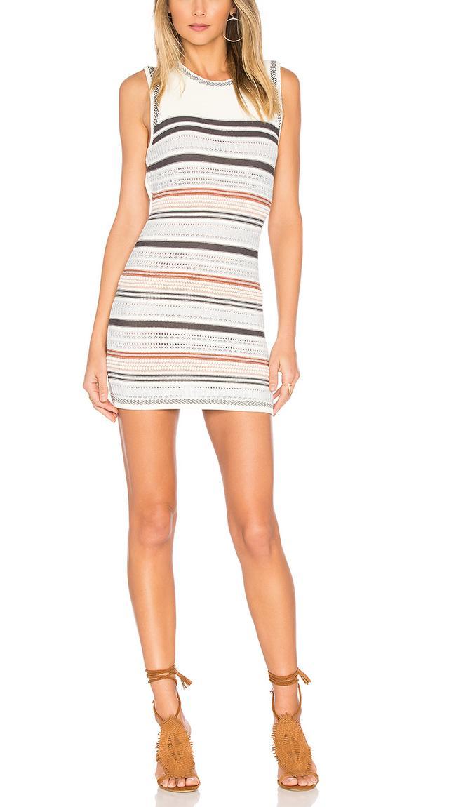 Striped Sweater Tank Dress