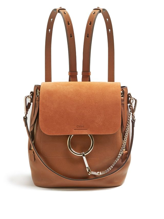 Chloé Suede and Leather Backpack