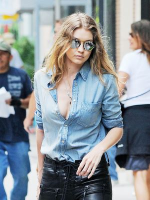 Gigi Hadid Just Wore the One Colour That's All Over Zara Right Now