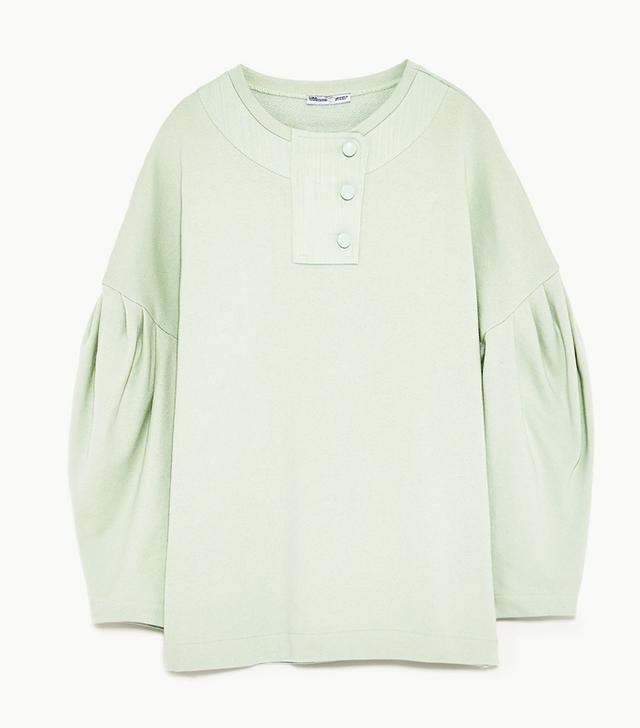 Zara Puff Sleeve Sweatshirt