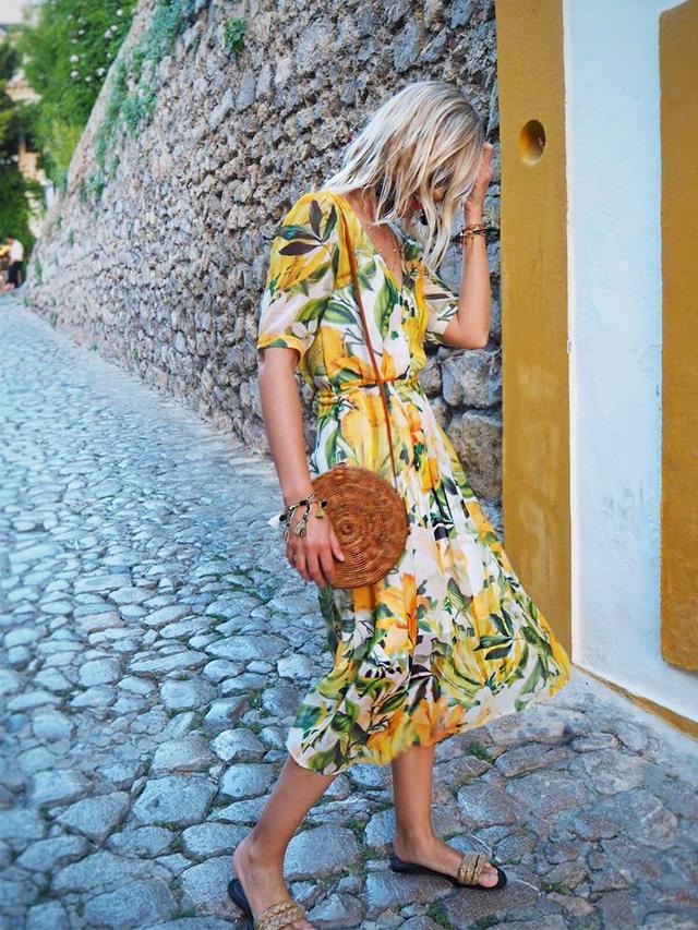 H&M Lemon print dress: The Frugality