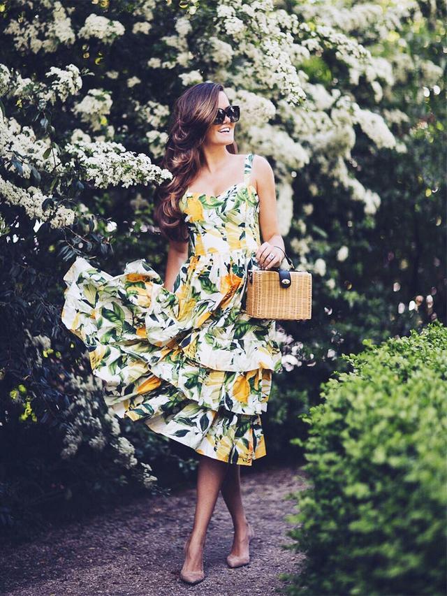 H&M lemon print dress: Rosie Londoner