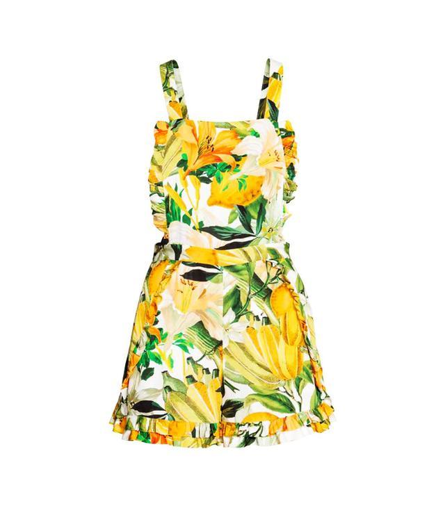 H&M Lemon print: playsuit