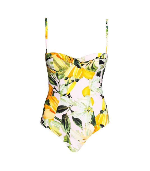 H&M lemon print: swimsuit