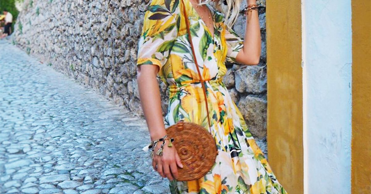 Резултат со слика за photos of orange and lemon print fashion