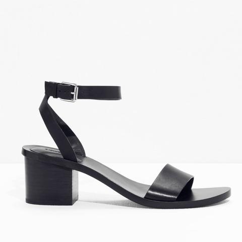 Ankle-Strap Heeled Sandal