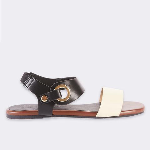 Block Heel Ring Detail Sandals