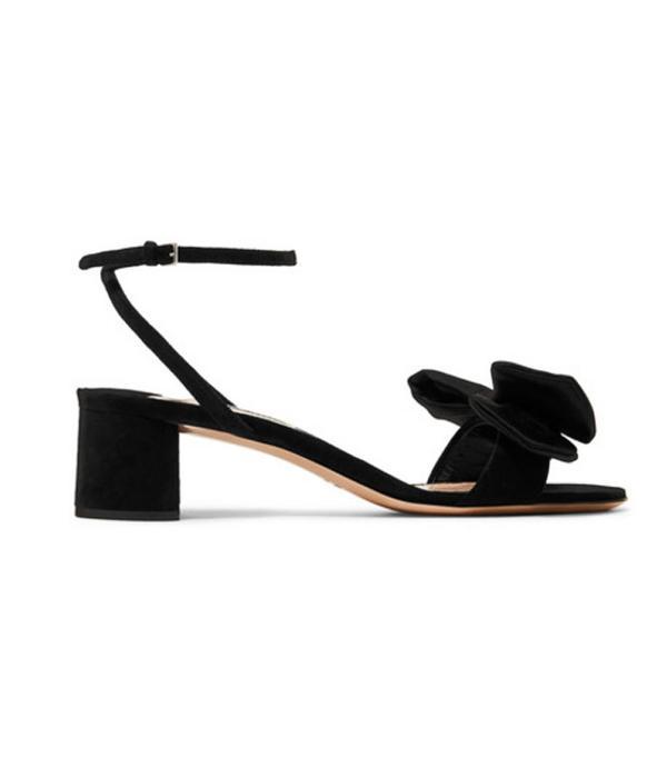 Bow-embellished Satin Sandals