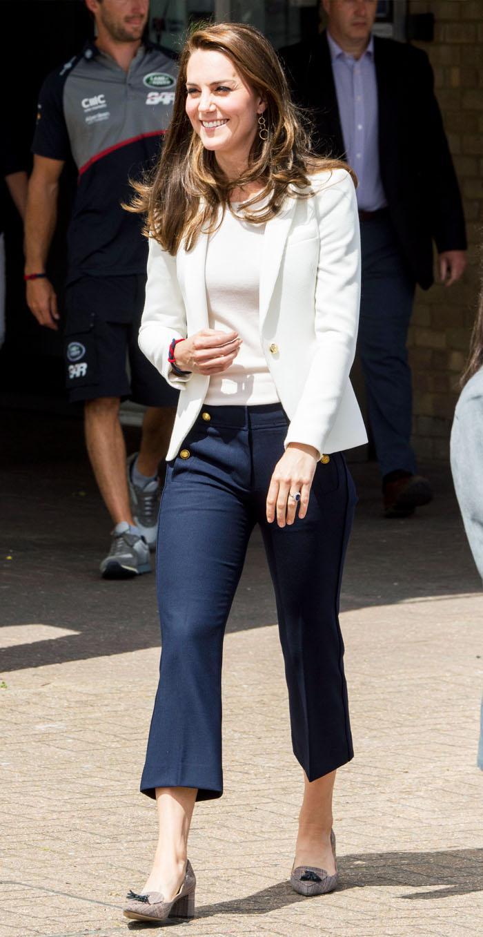 Duchess of Cambridge white Zara jacket