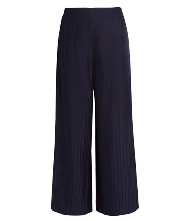 Tennessee Striped Twill Wide-leg Pants