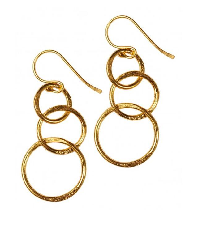Mirabelle Lolita Gold Plated Loop Earrings