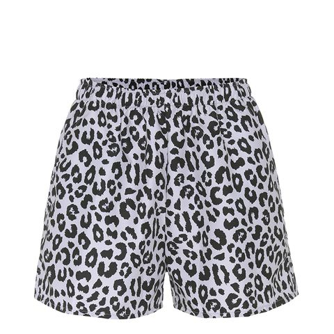 Micro Leopard-Printed Shorts